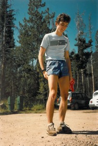 Bryce Thatcher sports scraped knees, a result of pushing for the fastest known time (FKT) on the Grand Teton